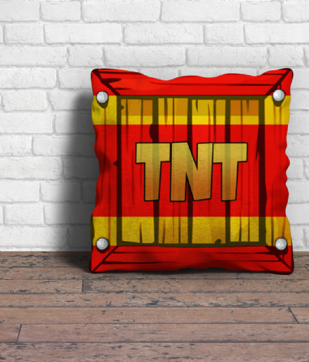TNT Crate 12 Inch Sofa Cushions from Crash Bandicoot